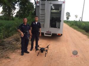 ตำรวจสื่อสาร นำรถปฏิบัติการ LTE ร่วมภารกิจไล่ล่าติดตามพ่อค้ายาบ้ายิงตำรวจบาดเจ็บสาหัส