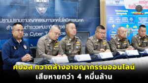 POLICE CYBER TASKFORCE (PCT) กวาดล้างอาชญากรรมออนไลน์รอบปีเสียหายกว่า 4 หมื่นล้าน