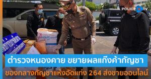 ตำรวจหนองคาย รวบแก๊งกัญชา 264 กก. ส่งขายออนไลน์